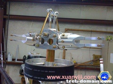 来自网络蚊子直升机桨毂结构
